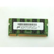 Оперативная память DDR2 Micron 2gb PC2-6400S для ноутбука
