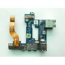 Плата с USB, Audio, Lan портом для ноутбука Dell Latitude E6500