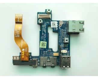 Плата USB, Audio, Lan для ноутбука Dell Latitude E6500