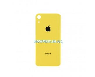 Заднее стекло корпуса iPhone XR Yellow