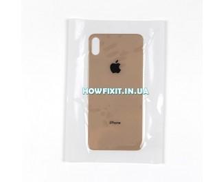 Заднее стекло корпуса iPhone XS Max Gold