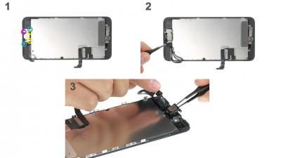 Как заменить слуховой динамик iPhone 7 Plus