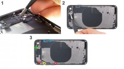 Как заменить кабель регулировки громкостью iPhone 8