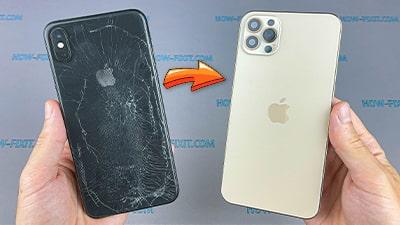 iPhone XS Max в корпусе iPhone 12 Pro Max