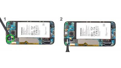 Как заменить фронтальную камеру Samsung Galaxy S6 Edge