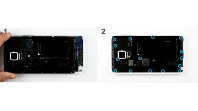 Как заменить шасси Samsung Galaxy Note Edge