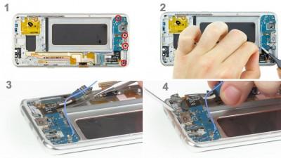 Как заменить гнездо питания Samsung Galaxy S8+