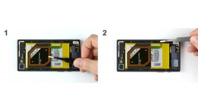 Как заменить NFC антенну Sony Xperia Z5 Compact